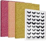 IAXSEE Eyelash Organizer to Keep 16 Pairs Eyelash, Portable Travel Lash Box, Eyelash Case, 3D Eyelash Storage Book Eyelashes