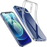 ESR Klar Silikon Hülle Kompatibel mit iPhone 12 und Kompatibel mit iPhone 12 Pro Transparente Polymer Hülle Schlank weich fle