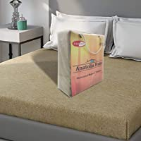 "Sassoon® Waterproof DustProof Terry Cotton Mattress Protector for King Size Bed - 78""x72"", Beige"