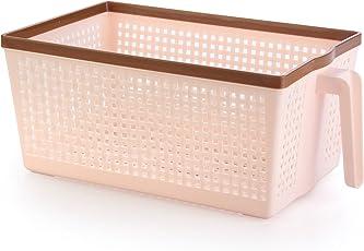 Nayasa Frill No. 1 Plastic Fruit Basket, Small, Peach