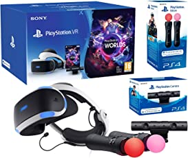 """PlayStation VR2 (CUH-VR2) """"Starter Plus Pack"""" + VR Worlds + Kamera V2 + Twin Move Kontrollers"""