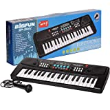 tumtum 37 key board piano keyboard toy for kids with microphone dc power option recording charger not included best…