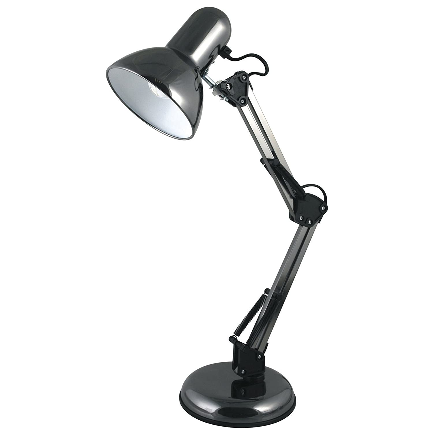 lloytron style poise hobby desk lamp l946bh 35w black amazoncouk lighting