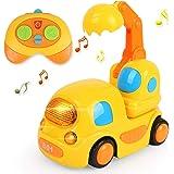 LBLA Coches Teledirigidos Niños 2 Años,Juguetes 2 Años,RC Juguetes para Bebés Niños 2 Años,Juguetes Niños 3 Años,Música y Luc