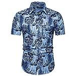 ♛2019 Clearance Sale♛ - Chamery Summer Shirt for MenFashion Men's Casual Button Hawaii Print Beach Short Sleeve Quick Dry...