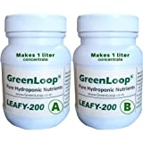 GreenLoop Hydroponic Nutrients– LEAFY200, Hydroponic nutrients Makes 200 Liter hydroponic Solution. Suitable for All Plants &