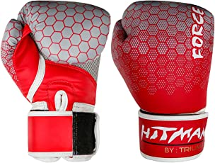Hitman by Triumph Force Printing Red (BX-24-2) PU Boxing Gloves