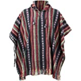LoudElephant 100% Woven Cotton Gheri Mexican Style Hooded Poncho