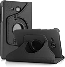 Dorado 360 Degree Rotating Leather Case Cover Stand for Samsung Galaxy Tab Jmax/Tab A 7.0 inch T285 T280 (Jmax - Black)