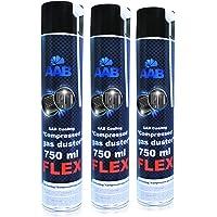 AABCOOLING Compressed Gas Duster FLEX 750ml - 3 Pièces - Bombe Depoussierante Avec un Tube Flexible, Bombe d'air Sec…