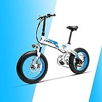 LANKELEISI X2000 20 '' 4.0 Pouces Gros Pneu 48V 1000W 12.8AH Fat Tire Cadre en Alliage d'aluminium Tire vélo électrique Pliable pour Adulte Femme/Homme pour Montagne/Plage/Neige E-Bike