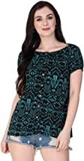 GMI Beautiful Printed Exclusive Cotton Women's Top Length 25 inches