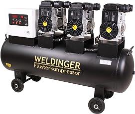 WELDINGER Flüsterkompressor FK 510 pro 4,8 kW Luftabgabe 510 l (Silentkompressor ölfrei wartungsfrei)