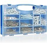 COM-FOUR® 560 stuks. Schroef-, plug- en spijkerset voor doe-het-zelvers - Assortiment schroeven in een praktische plastic doo