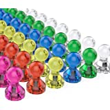 Lifekrafts Magnetic Push Pins (7 Assorted Colors, Pack of 20), Perfect for Refrigerator, Dry Erase Magnetic White Boards Used