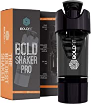 Boldfit Gym Shaker Pro Cyclone Shaker 500ml with Extra Compartment, 100% Leakproof Guarantee, Ideal for Protein, Preworkout a