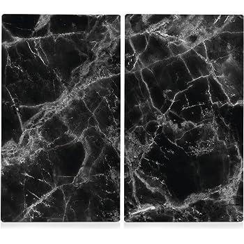 2 X Glas Herd Abdeckplatte Abdeckung Platte Ceranfeld Induktion