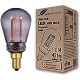 greenandco® Vintage Design LED lamp voor sfeerverlichting E14 ST45 Edison lamp 2W 45lm 2000K rook extra warm wit 320° 230V fl