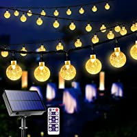 Solar Garden Lights Outdoor with Remote, 60 LED 36ft Waterproof String Lights Solar Powered Crystal Ball Decorative…