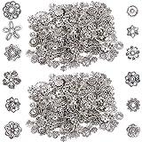 Perline in argento tibetano, BETOY 2 confezioni Perline distanziali Accessori per ciondoli in argento tibetano Perline distan