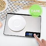 HOMEVER Balance Cuisine-Modèles à boutons, 15kg Balance de Cuisine Electronique de Haute Précision, Fonction de règle, Arrêt