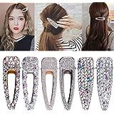 6 pezzi strass perni di capelli di cristallo fermagli per capelli in metallo fermagli per ragazze donne