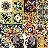 HomeArtDecor | Dekorative Fliesen | Mexikanische Maya Talavera Wandfliesen und Bodenfliesen | Fliesenaufkleber | Einfach Schälen und Kleben | Geeignet für Küche und Bad | Wasserdicht | Wohnkultur | Herbst Kollektion 2018