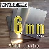 blank gewalzt natur 250 x 250 mm B/&T Metall Aluminium Blech-Zuschnitt hochfest 7075 Gr/ö/ße 25 x 25 cm 6,0mm stark
