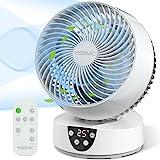 YISSVIC Ventilateur Silencieux avec Télécommande Ventilateur à Circulation d'Air 3D Oscillation 3 Vitesses Minuterie 9H pour