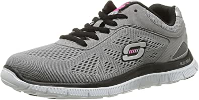 Reduzierte Damen Weiß Skechers Flex Appeal Obvious Choice