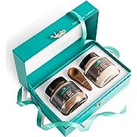 mCaffeine Be Date Ready Body Polishing Gift Kit | Tan Removal, Deep Moisturizing | Body Scrub, Body Butter | Paraben & Mineral Oil Free