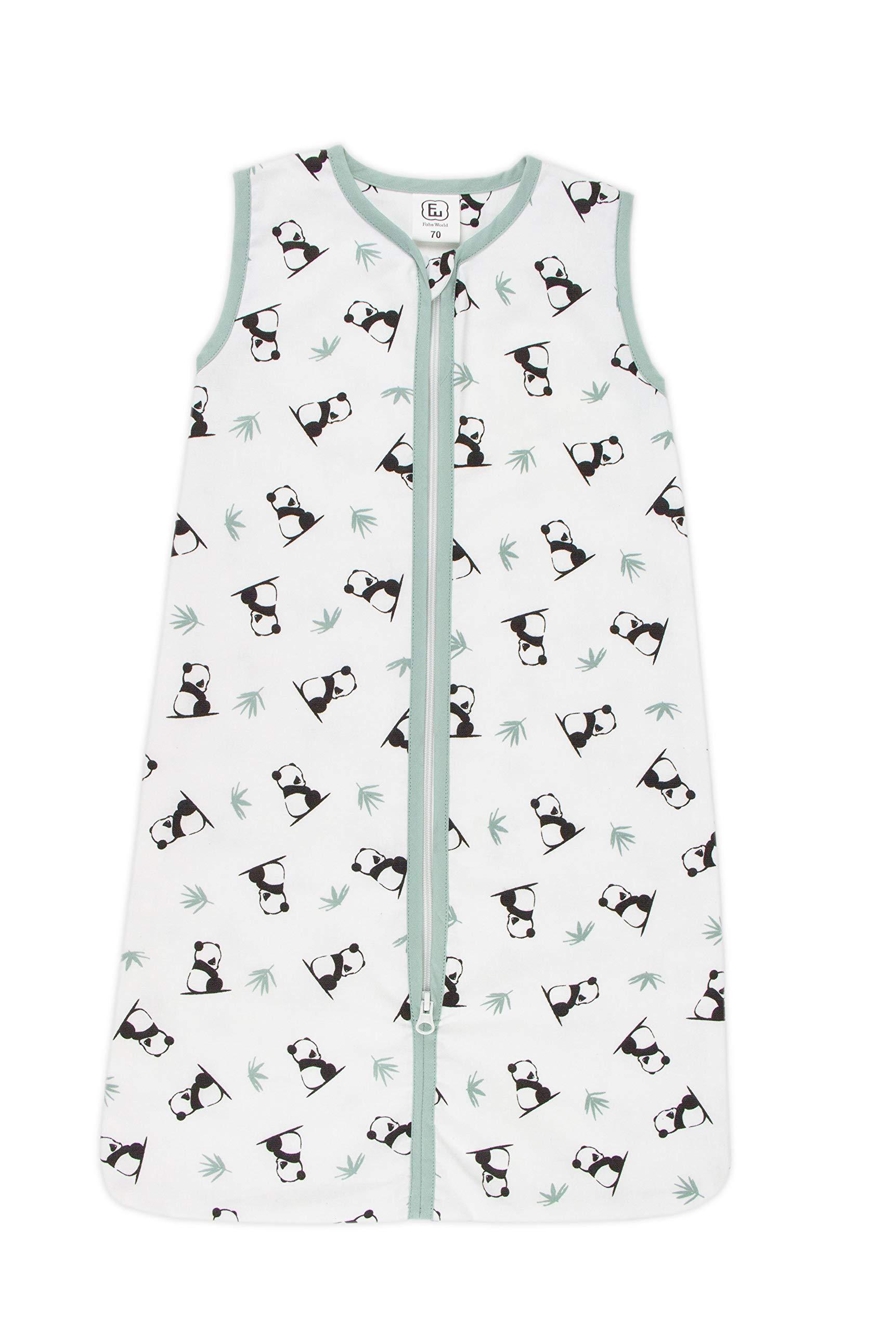 Panda Dreams – Saco de dormir de verano para su hijo (110 cm, con cremallera)