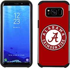Prime Brands Group Textured Team Color Cell Phone Case for Samsung Galaxy S8 Plus - NCAA Licensed University of Alabama Crimson Tide