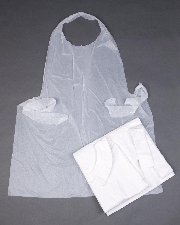 White disposable apron - 100 White Disposable Polythene Aprons 26 X 40 Amazon Co Uk Kitchen Home
