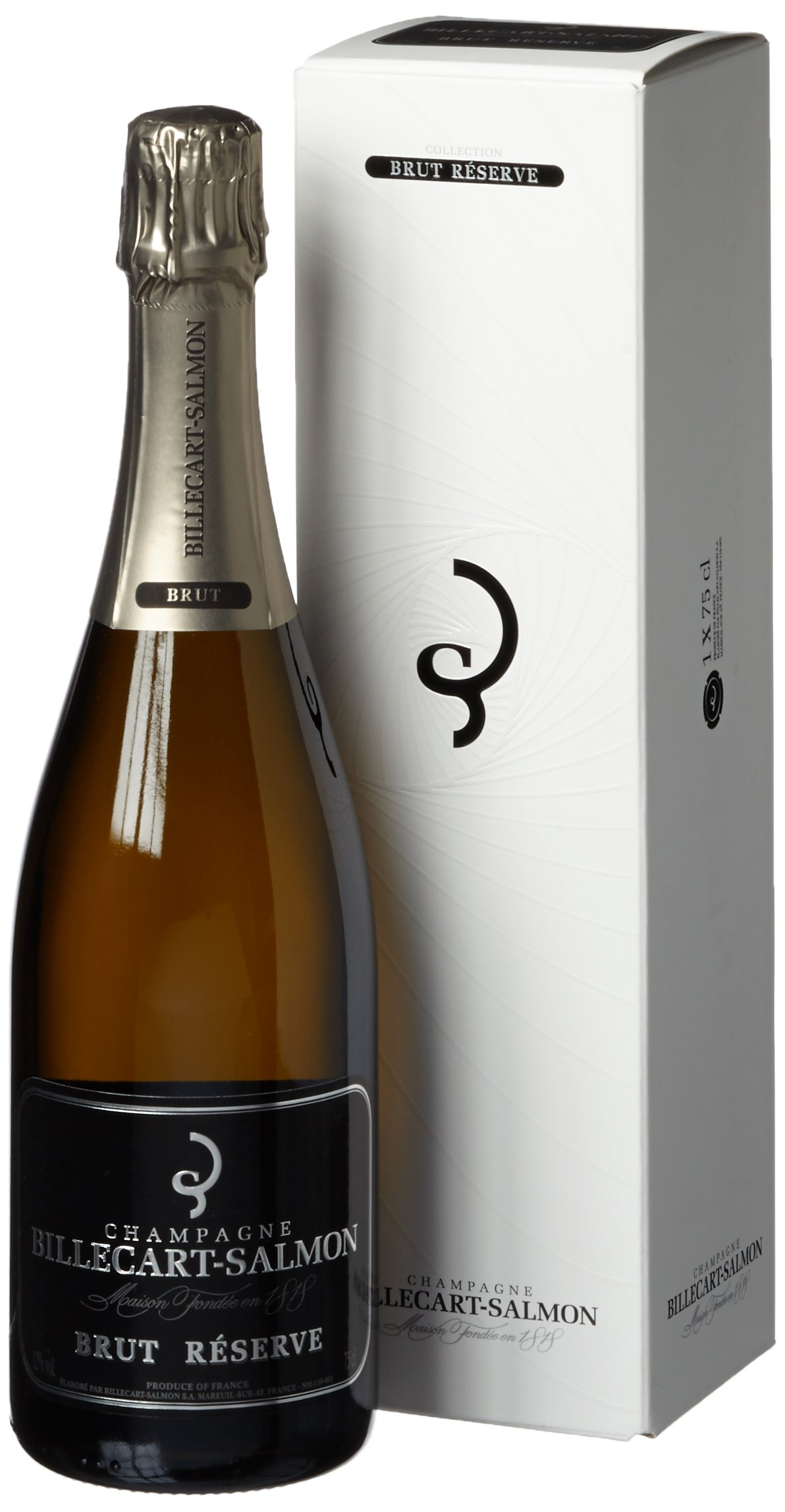 Billecart-Salmon Brut Reserve Non Vintage Champagne Gift Box, 75 cl