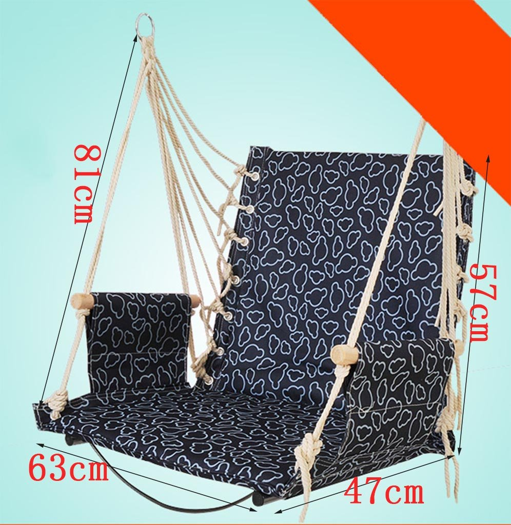 Ailin home- Garden Hammock Hanging Rope Chair, Swing Seat For Any Indoor Or Outdoor Spaces, College Student Dormitory Rope Chair, Load: 150kg ( Color : #8 ) Seat Made from exquisite fabrics and sturdy structures, Suitable for children of different ages to play Please play in the presence of adults 1