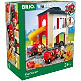 BRIO World Fire & Rescue - Rescue Central Fire Station for Kids Age 3 Years Up - Compatible with all BRIO Railway Sets & Acce