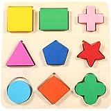Enfants Jouets Educatifs Géométrique Intellectuellen en Bois Puzzles dapprentissage Couleur Brillante pour Bébé Enfants d'âge