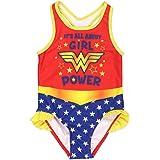 Warner Bros. - Bañador de Wonder Woman Traje de Baño para Niña Pequeña
