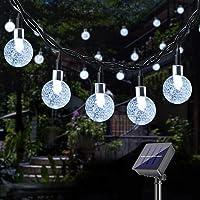 DeepDream Solar Garden Lights,25ft 40LED Solar String Lights Outdoor,Waterproof Crystal Ball Solar Powered Lights for…