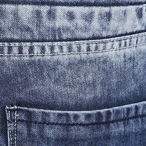 Richlook Slim Fit blauen Männer beiläufige gerade Stretch-Denim-Hosen - Größe verfügbar Blau