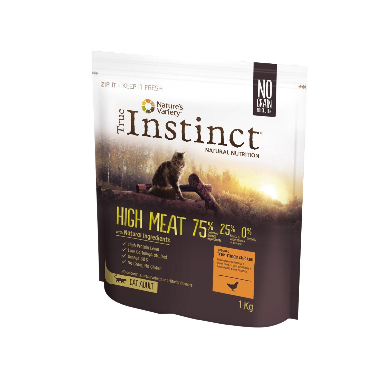 True Instinct High Meat Adult Medium/Maxi – Pienso para Perros Adultos con Pavo Deshuesado 1200 g