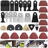 Keyohome Zaagbladenset, 100 stuks, accessoires voor oscillerende multitools, hout/metaal/kunststof, universeel multifunctione