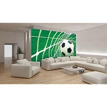 Murando fototapete fussball 300x210 cm vlies tapete moderne wanddeko design tapete - Wanddeko fussball ...