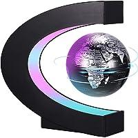 PZJFH Magnetische Schwebender Globus,Beleuchtet 3.5 Zoll C-förmiger Weltkarten Globus mit LED-Farblichtern für die…