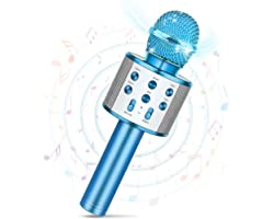 Tesoyzii Microfono Bluetooth Senza Fili Home Microfono Karaoke per Bambini - i Migliori Regali per i Bambini