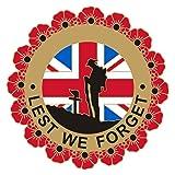 Badgepinworld NUOVA edizione limitata corona di fiori bandiera Union distintivo