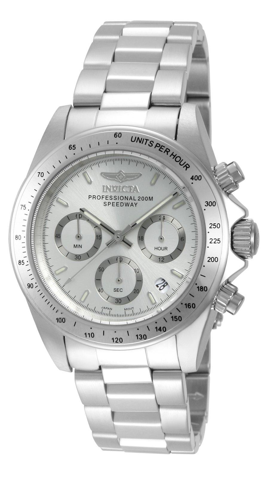 Invicta 14381 Speedway Reloj Unisex acero inoxidable Cuarzo Esfera plata