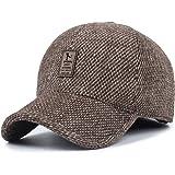 VoilaLove, Cappello da baseball da uomo in lana con lana e lana tweed