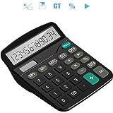 Tech Traders TTBCAL1 Taschenrechner, groß, 12 Ziffern, schwarz